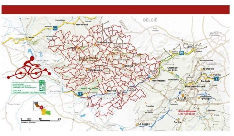 fietsnetwerk frans-vlaanderen kaart