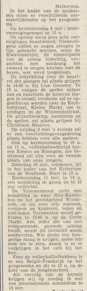 50 jaar geleden, mei 1969